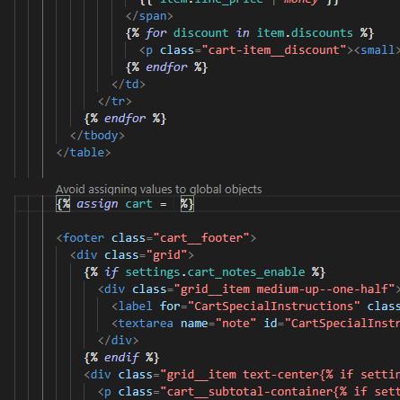 Showcase of Vega Editor's code auditing